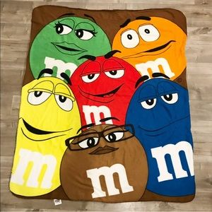 M&M fleece blanket
